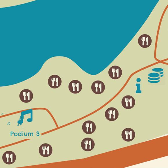 een fragment van de interactieve festivalkaart